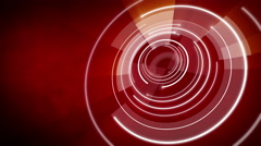 Abstract circle round background LOOP 4K Red Stock Footage