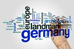 Germany word cloud concept - stock illustration
