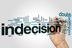 Indecision word cloud concept - stock illustration