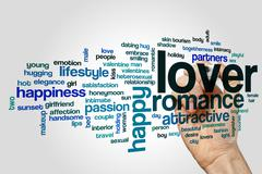 Lover word cloud concept Stock Illustration