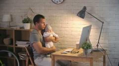 Infant Babysitting Stock Footage