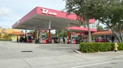 Ugas gas station Miami Stock Footage