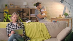 Family Life - stock footage