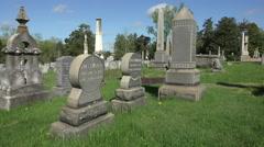 Fredericksburg Virginia Confederate cemetery headstones HD 005 Stock Footage
