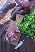 Blood sausages Stock Photos