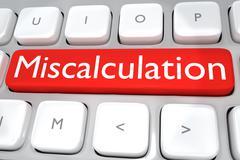 Miscalculation concept - stock illustration