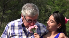 Grandfather Sneezing from Allergies Stock Footage