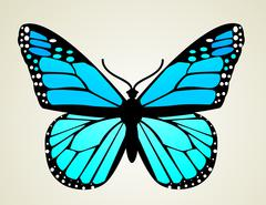 Butterfly. Vector illustration - stock illustration