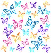 Butterflys. Vector illustration Stock Illustration