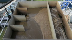 Waste water treatment Stock Footage
