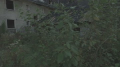Aerial of a ghosttown,very low altitude,tracking shot from right to left Stock Footage
