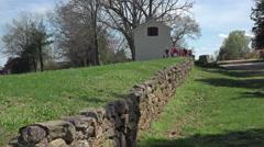 Fredericksburg Virginia Battlefield sunken road HD 022 Stock Footage
