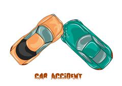 Car accident Stock Illustration