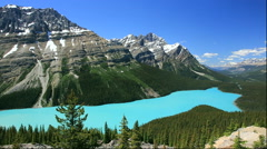 Peyto Lake and Rocky Mountains, Canada Stock Footage