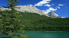 Wapta Lake and mountainscape, Canada - stock footage
