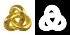 Golden Gordian Knot Sign - stock illustration