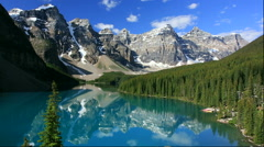 Moraine Lake and the Valley of the Ten Peaks Stock Footage