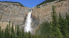 Takakkaw Falls in the Yoho National Park, Canada Stock Footage
