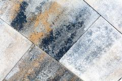 Background of granite paving stones stacked, paver and cube - stock photo