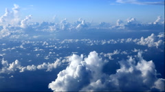Clouds seen through an airplane window, Okinawa Prefecture, Japan Stock Footage