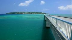 Kouri Island Bridge, Kouri Island, Okinawa Stock Footage