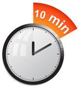 Timer 10 minutes vector illustration - stock illustration