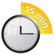 Timer 15 minutes vector illustration - stock illustration