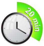 Timer 20 minutes vector illustration - stock illustration