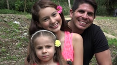 Happy Divorced Father And Daughters Stock Footage
