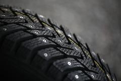 Studded tire - stock photo