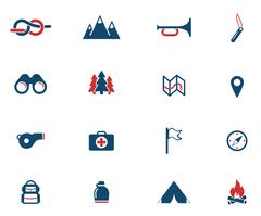 Boy scout simply icons Piirros