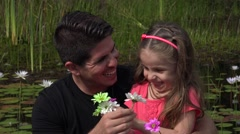 Divorced Father And Daughter Outdoors Stock Footage