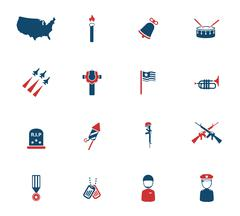 Stock Illustration of Memorial day simply icons