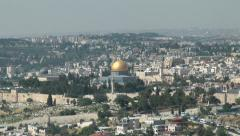 City of Jerusalem Panorama Al Aqsa Mosque Holy Land - stock footage