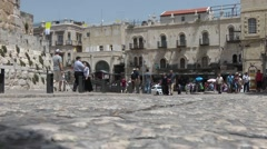 Jerusalem, old area: Exterior of a store in the old town area of Jerusalem. Stock Footage