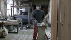 Joiner at the bench Stock Footage