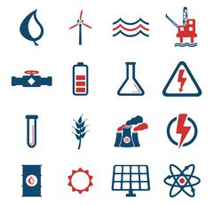 Power generation simply icons - stock illustration
