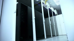 Real Render Farm and Database Server Stock Footage