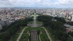 Aerial View of Ipiranga, Sao Paulo, Brazil Stock Footage