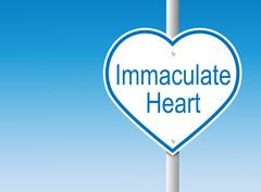 Immaculate Heart (Vector) - stock illustration