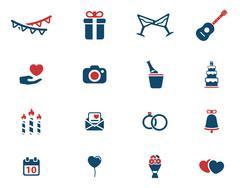Wedding simply icons Stock Illustration