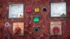 Old Electrical Control Panel. UltraHD video Stock Footage