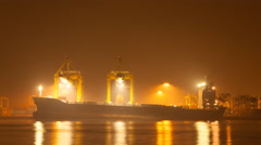 Khlong Toei Port Among The Mist in The Morning Stock Footage