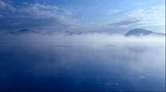 Frozen Lake Kussharo, Hokkaido, Japan Stock Footage