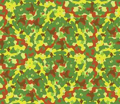 Seamless vector square camouflage series in the green scheme Stock Illustration