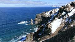 Cape Kamui of Shakotan Peninsula, Hokkaido, Japan Stock Footage