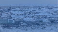 Drifting ice, Hokkaido, Japan Stock Footage