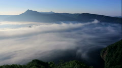Fog over Lake Mashu, Hokkaido Stock Footage