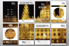 Business templates for brochure, flyer or booklet. Night lights in the city Piirros