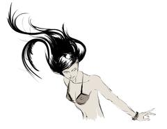 Fashion model. Sketch Stock Illustration